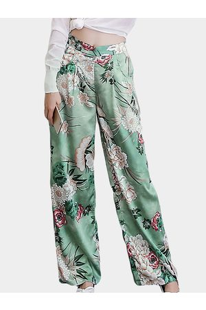 YOINS Wide Leg Floral Print Pants