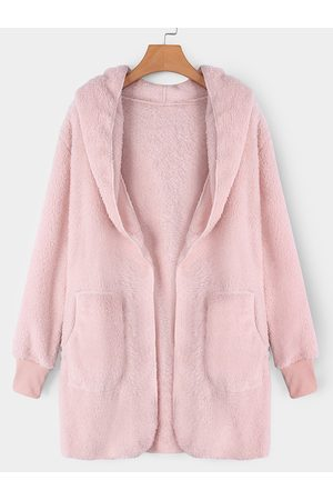 YOINS Hooded Lapel Collar Long Sleeves Sweaters Coat