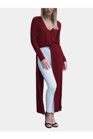 YOINS Women Maxi Dresses - Super Slit Hem Irregular Dress