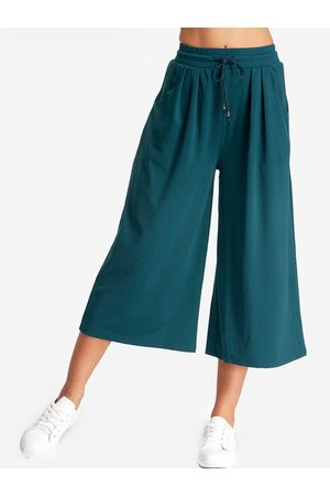 YOINS Pleated Design Wide-legged Trousers