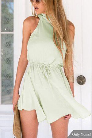 YOINS Crew Neck Sleeveless Mini Dress