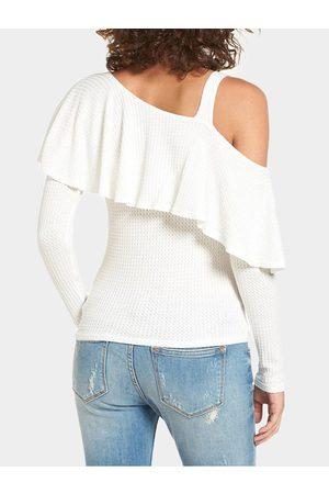YOINS Tiered Design One Shoulder T-shirt