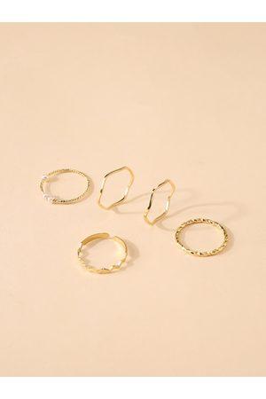 YOINS Simple Metallic Ring Set