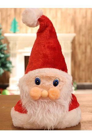 YOINS Christmas Fleece Red Santa Claus Face Hat