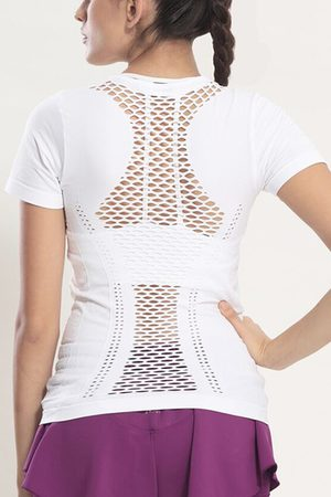 YOINS Hollow Stitching Gym T-shirt
