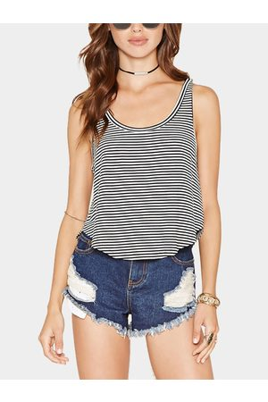 YOINS Casual Tank Top With Stripe Pattern