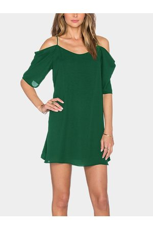 YOINS Atrovirens Cold Shoulder Mini Dress