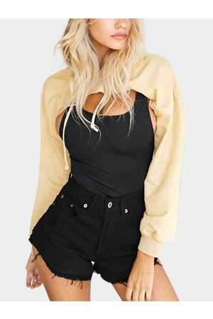 YOINS Hoodies Cut Out Chest Front Top