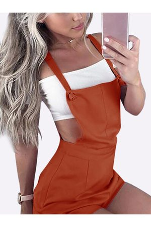 YOINS Casual Tie-Strap Playsuits in Rusty