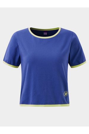 YOINS Active Round Neck Cut Out Elastic T-shirts in