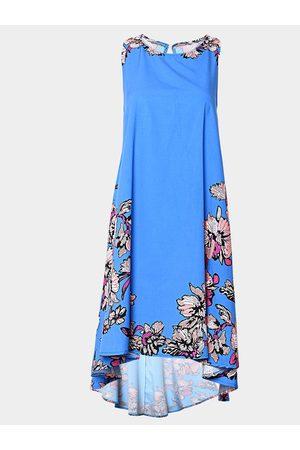 YOINS Sleeveless Random Floral Printed Dress