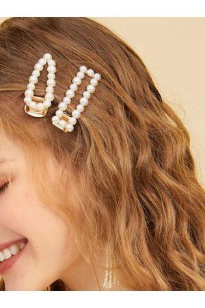 YOINS Faux Pearl Deign Hair Clip 2Pcs