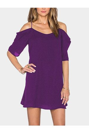 YOINS Women Work Dresses - Cold Shoulder Mini Dress