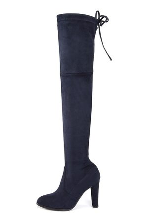 YOINS Chunky Heels Lace-up Over The Knee Boots