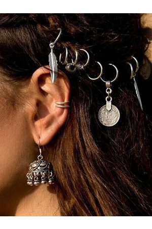 YOINS Silver Leaf Coin Pendant Headdress Hair Accessories