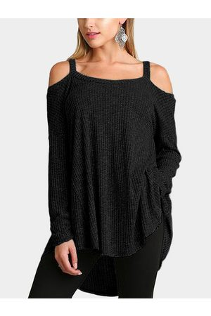 YOINS Knitted Cold Shoulder Long Sleeves Top