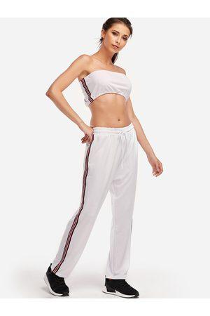 YOINS Stripe Strapless Fashion 2-piece Tube Suits