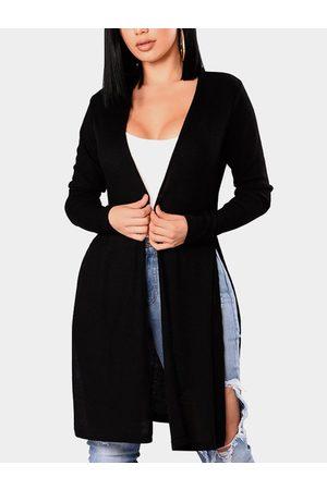 YOINS Slit Design Long Sleeves Cardigan