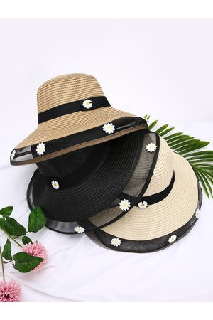 YOINS Daisy Decor Mesh Patchwork Staw Hat