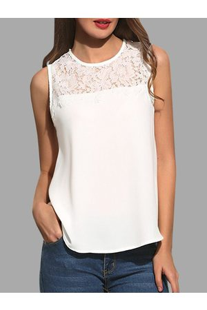 YOINS Casual Lace Insert Tank Top