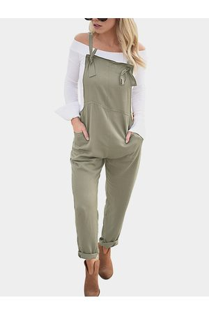 YOINS Women Jumpsuits - Square Neck Sleeveless Overall Outfits