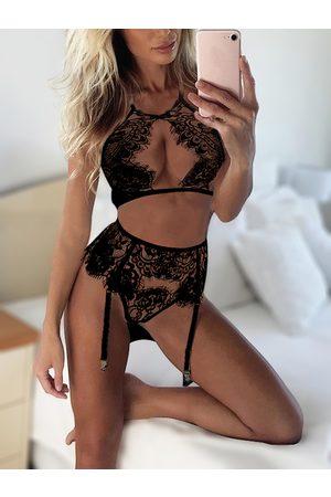YOINS Women Lingerie Sets - Sexy Eyelash lace Hollow Out Front Lingerie Set