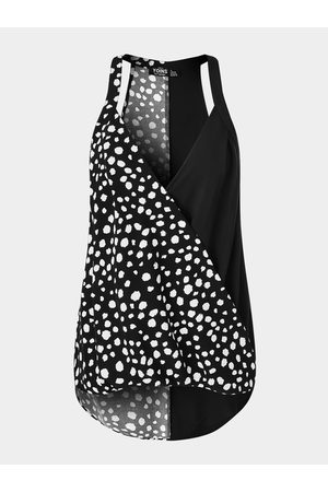YOINS Women Halterneck Tops - Wrap Design Polka Dot Halter Sleeveless Cami