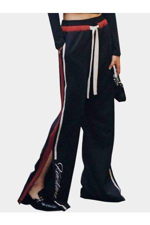YOINS Women Wide Leg Pants - Active Wide Leg Side Slit Design High-waisted Sport Pants in