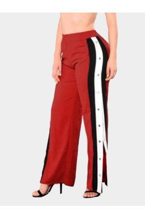 YOINS Active Wide Leg Deep Side Slit Design High Waist Sport Pants in