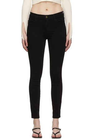 Frame 'Le High Skinny' Raw Stagger Jeans