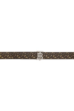 Burberry Reversible Brown E-Canvas Monogram TB Belt