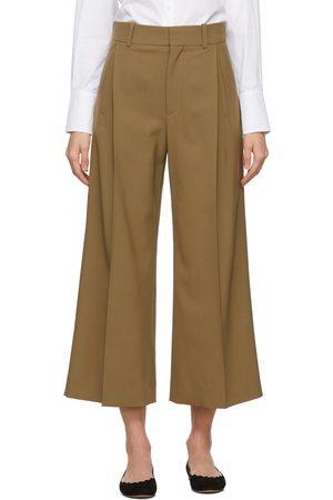 Chloé Brown Virgin Wool Wide-Leg Trousers
