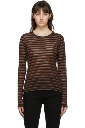 Rag & bone Metallic Stripe Long Sleeve T-Shirt