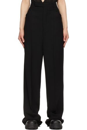Rick Owens Wool Crepe Colbert Trousers