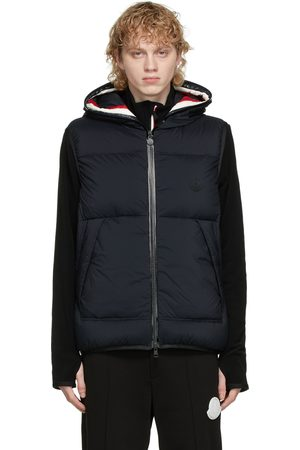 Moncler Navy Down Luberon Hooded Vest