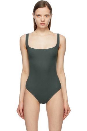SKIMS Grey Cotton Rib Bodysuit