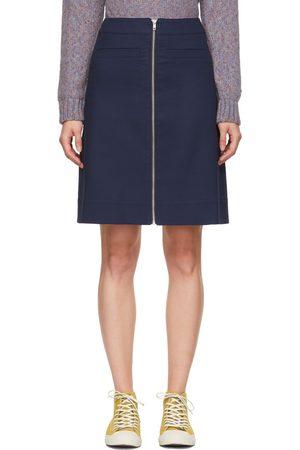 YMC Navy Zippered Skirt