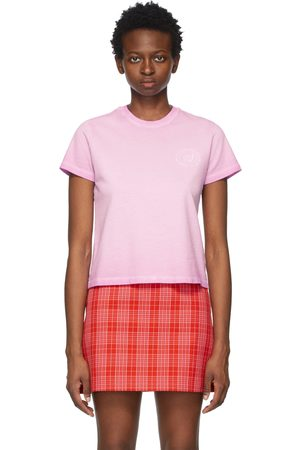 Opening Ceremony Pink Logo Embroidered T-Shirt