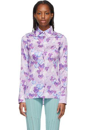 Marco Rambaldi Purple & Blue Heart Shirt