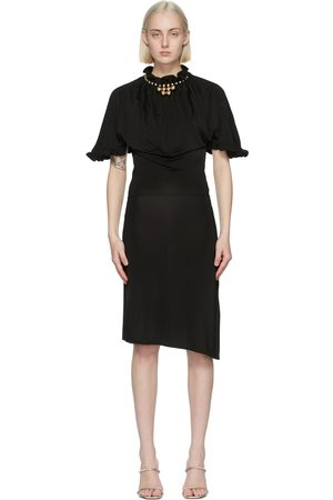 Paco Rabanne Ruffle Neck Midi Dress