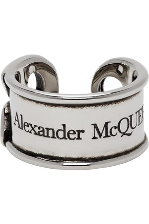 Alexander McQueen Silver Safety Pin Ring
