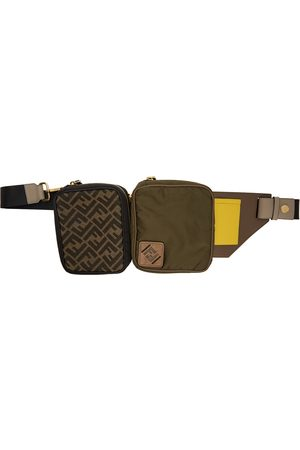 Fendi Green & Black Canvas Multi Pouch 'Forever Fendi' Belt Bag