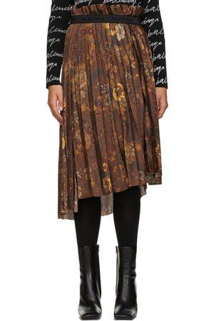 Balenciaga Floral Pleated Skirt