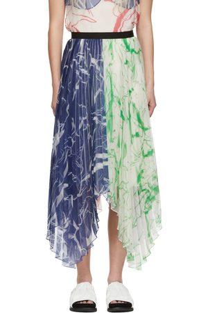 Marina Moscone Multicolor Plissé Skirt