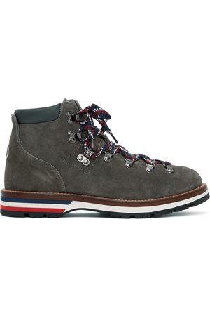 Moncler Grey Suede Peak Boots