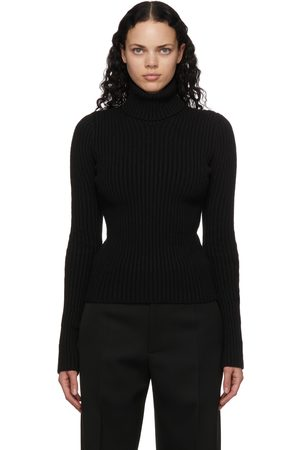 Bottega Veneta Rib Knit Distorted Turtleneck
