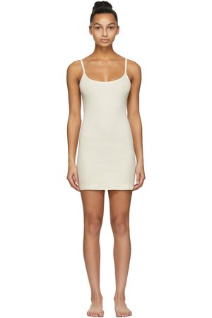 SKIMS Off- Cotton Rib Slip Dress
