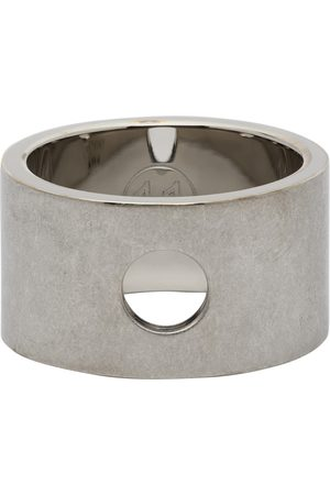 Maison Margiela Silver Brushed Cut Out Ring