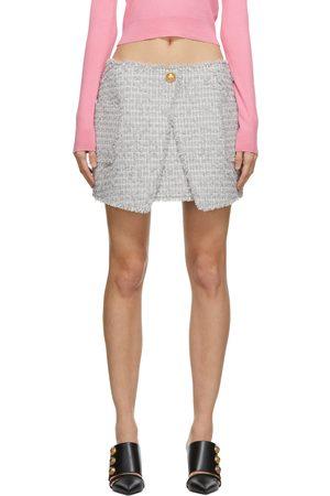 Balmain Tweed Wrap Skirt