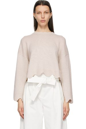 3.1 Phillip Lim Beige Cashmere & Wool Scalloped Sweater